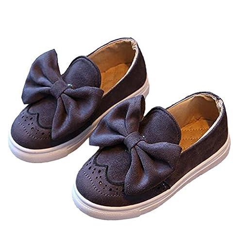 Minetom Baby Girls Bow Fashion Princess Cute Soft Sole Shoes