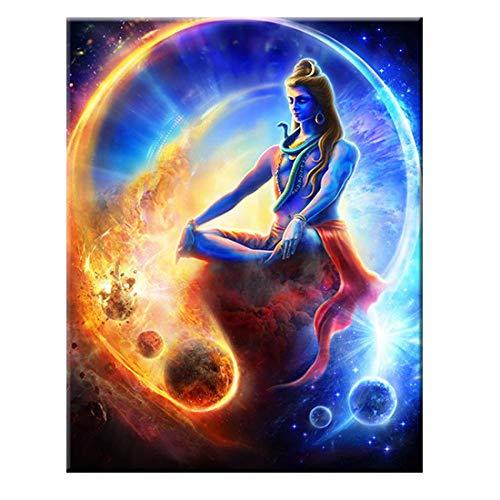 Shiva Lord Leinwandbilder Auf Der Wand Wandkunst Leinwand Hinduismus Wandposter Und Drucke Cuadros Bild Home Decor 60cm x90cm Kein Rahmen