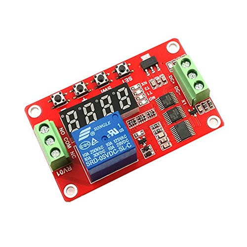 DaoRier FRM01 1-CH Kanal Multifunktion Relais Relay Modul 5V/12V/24V Loop Delay Timer Schalten Selbsthemmung, 5V - Delay-timer