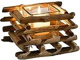 SIDCO Windlicht Treibholz Teelichthalter Kerzenleuchter Kerzenhalter Kerzenständer