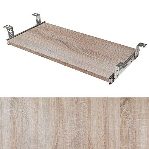 Tastaturauszug Set Dekor Eiche sägerau (60 Zentimeter, 30 Zentimeter)