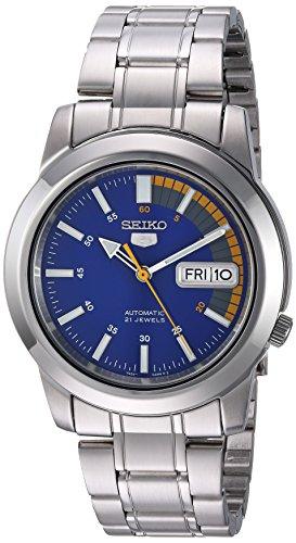 Seiko Herren-Armbanduhr XL Analog Quarz Edelstahl SNKK27K1