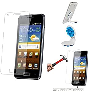 Qualitas Pack of 4 Tempered Glass for MOTOROLA MOTO X EXPLOSION P + Octopus Mobile Phone Holder Stand