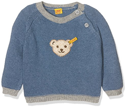 Steiff Collection Jungen Pullover Pullover, Gr. 56, Blau (moonlight blue 3820)
