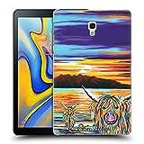Head Case Designs Offizielle Steven Brown Isla & Arran Mccoo Hochland Kuh Sammlung 2 Ruckseite Hülle für Samsung Galaxy Tab A 10.5 (2018)
