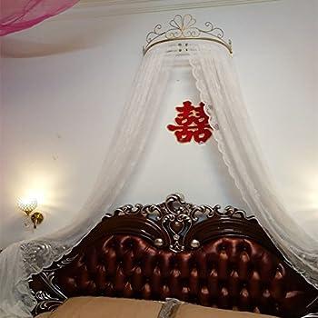 Ciel de lit princesse,Fer forgé européen moustique couvre-lit rideaux  rideaux décoratifs couronne filet voilages-F