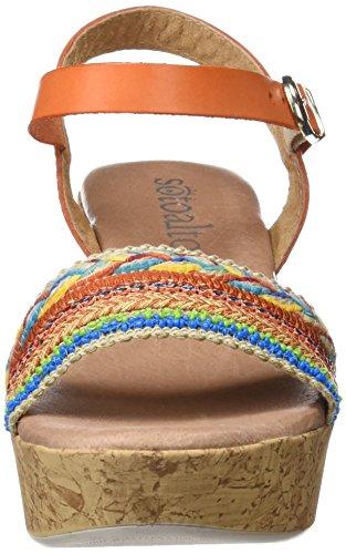 SOTOALTO - 1051989431, Sandali con cinturino Donna Multicolore