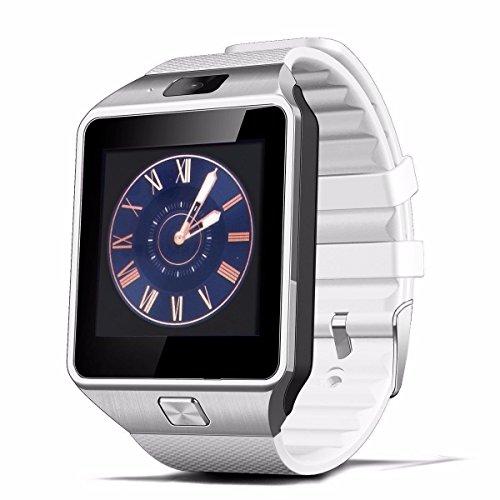 Zomtop DZ09 Bluetooth Smart-Uhr-Armbanduhr mit Kamera-Sync für Android IOS Smart-Phone Samsung S5 / Anmerkung 2/3/4, Nexus 6, htc, Sony, Huawei und andere Android-Smartphones (weiß)