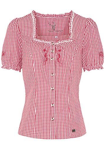 Spieth&Wensky Damen Trachtenbluse Kaprio, Rot, 50