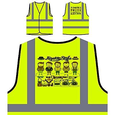 Hipster Style Essentials Neuheit Lustig Personalisierte High Visibility Gelbe Sicherheitsjacke Weste a695v