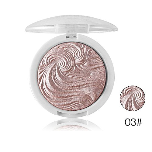 SOMEAS 3D Shimmer Powder Highlighter Palette Face Base Illuminator Makeup Bronzers Highlight Contour Silver Golden #03