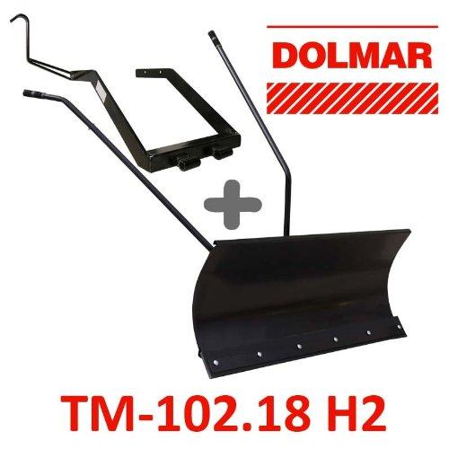 Lame à Neige 118 cm Noire + adaptateur pour Dolmar TM-102.18 H2
