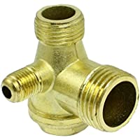 Compresor de valvula de retencion - SODIAL(R) Rosca macho de laton compresor de aire valvula de retencion de piezas de repuesto dorado