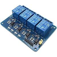 AptoFun Módulo de relé de 4 canales con DC 5V para Arduino UNO R3 Raspberry Pi ARM AVR DSP PIC (4 channels)