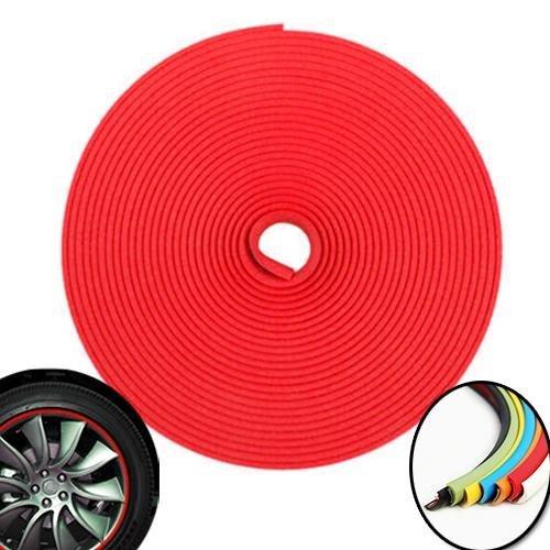 3D-Rollpaspel für Autofelgen, 8m,Rot