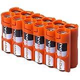 PowerPax 12 AA Battery Caddy - Orange