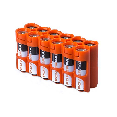 PowerPax 12AA Akku Caddy-Orange