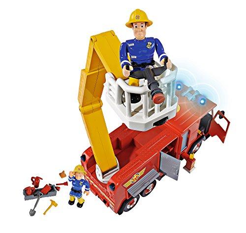 - 51gG6qaegEL - Simba 109257661 – Feuerwehrmann Sam Jupiter Feuerwehrauto mit 2 Figuren, 28 cm