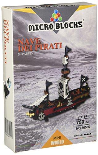Micro Blocks wlt-66505-Set Baukasten Schiff Piraten