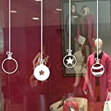 Hunpta Frohe Weihnachten Dekoration Aufkleber Fenster Aufkleber Home Decor (Weiß)