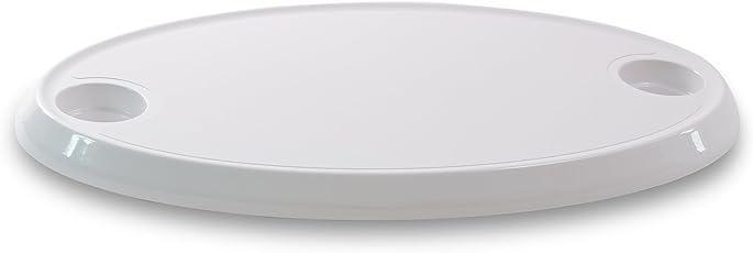 wellenshop Nuova Rade Tischplatte Oval für Einzeltischfuß Tischbein Boot Wohnmobil