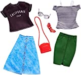 Barbie FKT30 Fashions 2er-Pack Puppe, grün/blau