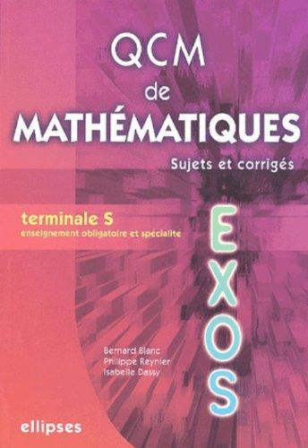 QCM de mathématiques Tle S : Sujets et corrigés