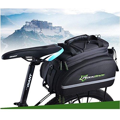 ROCKBROS Radfahren Tr_ger-Tasche Fahrrad-Beutel-Rôck Trunk Bag Bag Mountain Bike Rucksack tragen Farbe schwarz