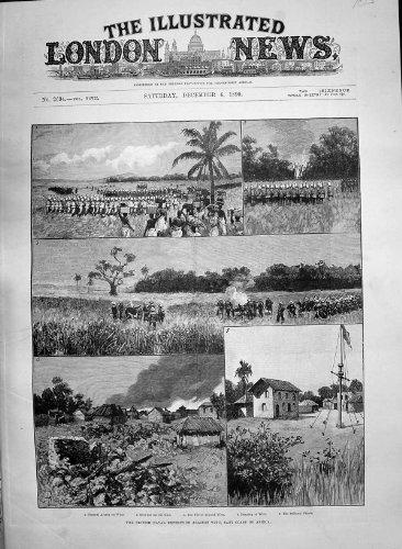 Antike expedition Witu Afrika des Druck-1890 Britischer Marinesultans-Palast - Afrika Antique Print