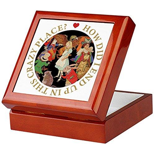 iesem Crazy Place–Keepsake Box, fertig Hartholz Jewelry Box, Samt Gefüttert Memento Box mahagoni ()