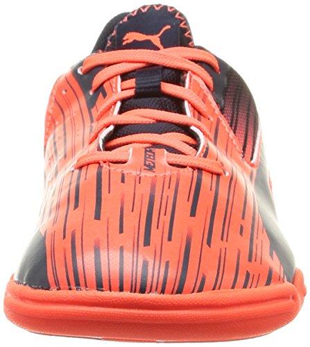 Puma - Meteor Sala Lt Jr, Scarpe da calcio Unisex – Bambini Arancione (Orange (lava blast-total eclipse 01))