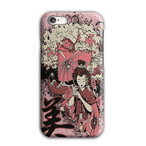 Geisha Sakura Kunst Fantasie Kostüm Perücke iPhone 8 Hülle   Wellcoda