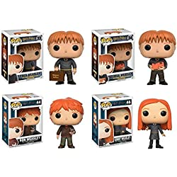 Funko POP! Harry Potter: Fred + George + Ron + Ginny – Weasley Set Figure NEW