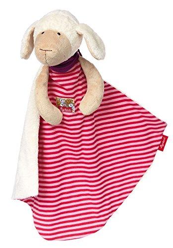 sigikid, Mädchen, Schnuffeltuch Schaf, XXL, Weiß/Pink, 38799