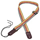 Mugig New Adjustable Cotton Strap with Leather Ends for Ukulele