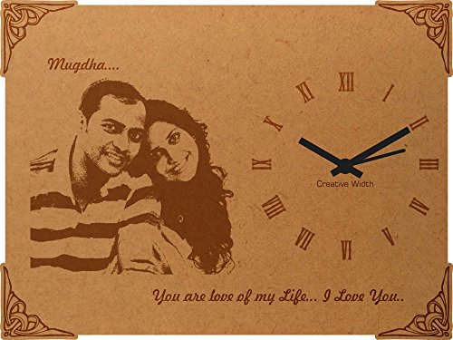 creative width personalised birthday message engraved photo frame clock - 8x6 inch Creative Width Personalised Birthday Message Engraved Photo Frame Clock – 8×6 inch 51gGBD Vy6L