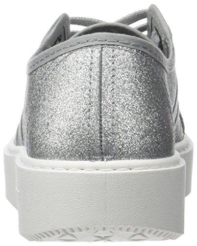 Victoria Unisex Adulto Basket Glitter Sneaker Argento (plata)