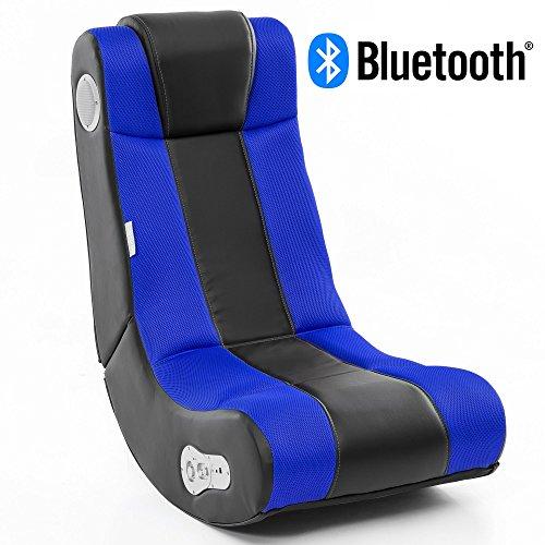 Wohnling WL8.007BT Soundchair, Lederimitat, Blau, Höhe: 101 cm Breite: 57 cm Tiefe: 79,5 cm