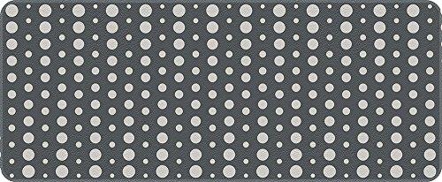 ID Mat 5012002 Points Tapis de Cuisine Fibre Polyamide/PVC Gris 120 x 50 x 0,4 cm