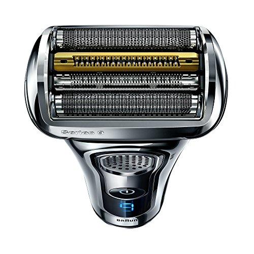 Braun Series 9 9296cc Rasoio Barba Elettrico a Lamina, Stazione di Pulizia Clean&Charge e Custodia da Viaggio Premium, Cromato