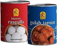Bhikharam Chandmal Rasgulla 500g and Gulab Jamun 500g Combo Pack - Pack of 1