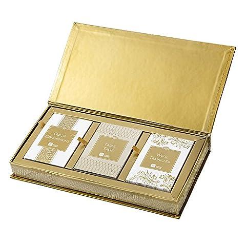 Talking Tables gold Karten mit Spielen für Dinnerpartys, 3 Muster