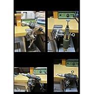 WERKSTATTHALTERUNG - Heimwerker - 5 fach im Radius verstellbare MULTIHALTERUNG - 360 ° drehbare GVC ® HALTERUNG mit EDELSTAHLHÜLSE zur Befestigungen von STÖCKEN bis Ø 33 mm an runden oder eckigen Elementen von Ø 25 bis ca. Ø 60 mm - Made in Baden-Württemberg - INNOVATIONEN MADE in GERMANY - Holly ® Produkte STABIELO - MIT GUMMISCHUTZKAPPEN zur kratzfreien BEFESTIGUNG - holly-sunshade ®
