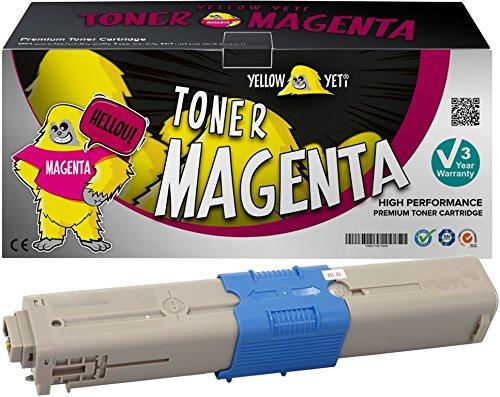 Oki-magenta-laser (Yellow Yeti 44973534 (1500 Seiten) Magenta Premium Toner kompatibel für Oki C301 C301dn C321 C321dn MC332dn MC342dn MC342dnw MC342dw MC342w [3 Jahre Garantie])