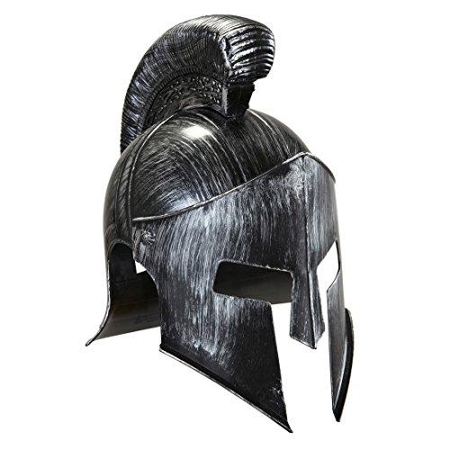 Sparta 300 Helm Kriegerhelm grau Achilles Römerhelm Antike Trojahelm Spartanerhelm Kopfbedeckung Soldat