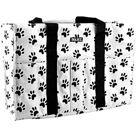 WAHL Professional Animal Große Tragetasche mit Pfotenabdruckmotiv, 45,7 cm, Schwarz und Weiß