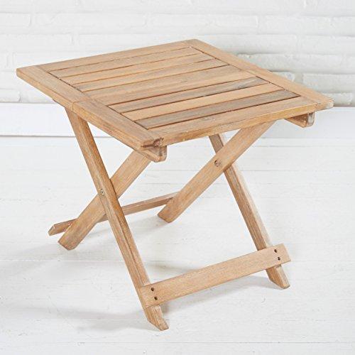 Picknicktisch Holz kleiner Tisch 50 x 50 x 45 cm Holztisch Beistelltisch Campingtisch Tischchen klappbar für Garten Balkon Terrasse