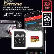 SanDisk Tarjeta de memoria Extreme 32 GB microSDHC para cámaras de deportes de acción + adaptador SD, velocidad de lectura hasta 100 MB/s, Clase 10, U3, V30 y A1