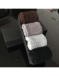 Socks ZY Calcetines de los hombres rayaron calcetines gruesos de invierno en los calcetines del piso del tubo de coral de terciopelo toalla tibia calcetines para dormir , f , 3#