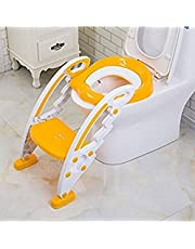 Gison Baby Toilet Trainer Seat with Ladder Step for Kids (Multicolour)